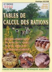 Tables de calcul des rations des bovins (lait et viande), des ovins et des porcins + guide de calcul - Couverture - Format classique