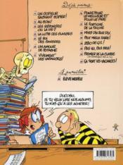 L'élève Ducobu t.7 ; vivement les vacances ! - 4ème de couverture - Format classique