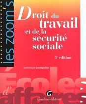 Zoom'S Droit Du Travail Et Securite Sociale - Intérieur - Format classique