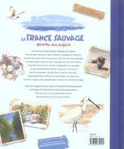La France Sauvage Racontee Aux Enfants - 4ème de couverture - Format classique
