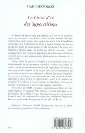 Le livre d'or des superstitions - 4ème de couverture - Format classique