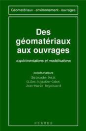 Des geomateriaux aux ouvrages - Couverture - Format classique