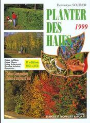 Planter des haies, brise-vent, bandes boisées, bosquets - Intérieur - Format classique