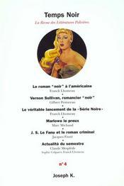 Revue Temps Noir N4 - Intérieur - Format classique