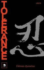 Tolerance - Culture Et Coutumes Chinoises - Couverture - Format classique