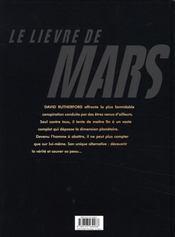 Le lièvre de Mars ; intégrale t.1 à t.4 - 4ème de couverture - Format classique