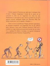 La Longue Marche D'Homo Sapiens La Fabuleuse Histoire Du Bipede - 4ème de couverture - Format classique