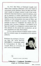 Mythes Et Memoires Du Mouvement Ouvrier - 4ème de couverture - Format classique