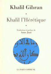 Khalil L'Heretique - Intérieur - Format classique