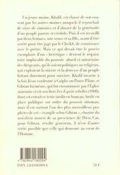 Khalil L'Heretique - 4ème de couverture - Format classique