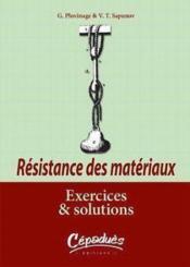 Resistance des materiaux ; exercices et solutions - Couverture - Format classique