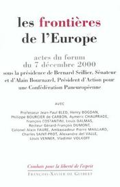 Frontieres De L'Europe - Intérieur - Format classique