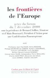 Frontieres De L'Europe - Couverture - Format classique