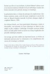 Manuel D'Analyse Musicale T2 - 4ème de couverture - Format classique