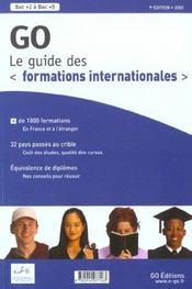 Guide Go Des Formations Internationales ; Edition 2002 - Intérieur - Format classique