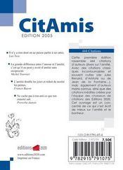 Citamis - 4ème de couverture - Format classique