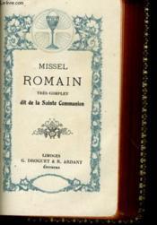 Missel Romain Tres Complet Dit De La Sainte Communion - Couverture - Format classique