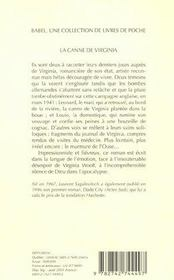 La canne de virginia babel 601 - 4ème de couverture - Format classique