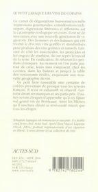 Le petit lapaque des vins de copains - 4ème de couverture - Format classique