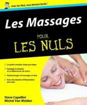 Les massages pour les nuls - Couverture - Format classique