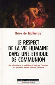 Le respect de la vie humaine dans une éthique de communion - Intérieur - Format classique