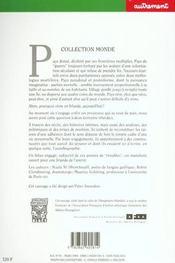 Monde t.93 ; les irlandes paralleles - 4ème de couverture - Format classique
