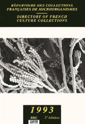 Repertoire des collections francaises demicroorganismes - Couverture - Format classique