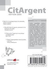 Citargent - 4ème de couverture - Format classique
