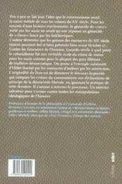 Le péché originel du XX siècle - 4ème de couverture - Format classique