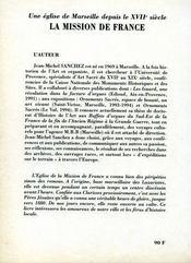 Une eglise de marseille depuis le xvii siecle ; la mission de france - 4ème de couverture - Format classique