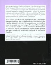The High Window By R.Chandler - 4ème de couverture - Format classique