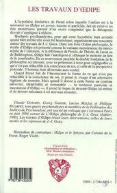 Les Travaux D'Oedipe, D'Apres Oedipe Philosophe De Jean-Joseph Goux - 4ème de couverture - Format classique
