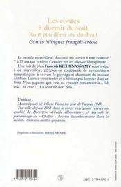 Les Contes A Dormir Debout ; Kont Pou Domi Tou Doubout - 4ème de couverture - Format classique