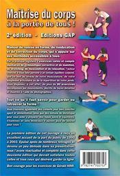 Maîtrise du corps a la portée de tous (2e édition) - 4ème de couverture - Format classique