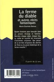 La Ferme Du Diable Et Autres Contes Fantastiques - 4ème de couverture - Format classique