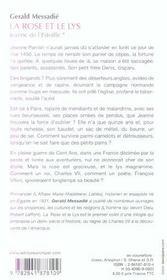La Rose Et Le Lys - Jeanne De L'Estoille* - 4ème de couverture - Format classique