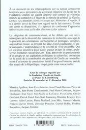Charles De Gaulle Et La Nation - 4ème de couverture - Format classique