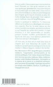 Moi, Ma Sante - 4ème de couverture - Format classique