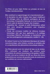 Fiches De Macroeconomie 2e Edition Mise A Jour - 4ème de couverture - Format classique