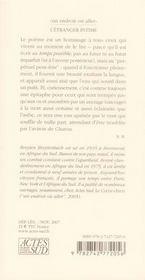 L'Etranger Intime - 4ème de couverture - Format classique