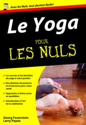Le yoga pour les nuls - Couverture - Format classique