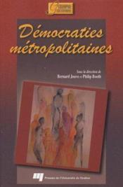 Démocraties métropolitaines - Couverture - Format classique
