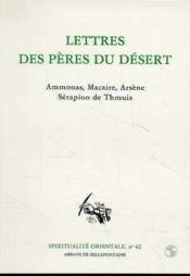 Lettres Des Peres Du Desert - Couverture - Format classique