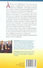 Marches monetaire et obligataire. thome 1 : theor juridi & comparai marches - 4ème de couverture - Format classique