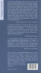 1962 algerie ; la guerre est finie ; edition 2002 - 4ème de couverture - Format classique