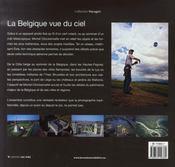 La Belgique vue du ciel - 4ème de couverture - Format classique