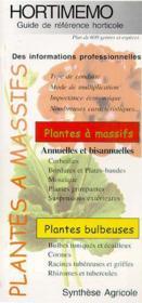 Hortimemo : plantes a massifs (guide de reference horticole) - Couverture - Format classique