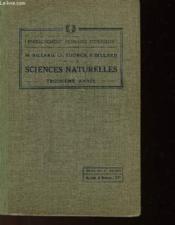 Sciences Naturelles (Zoologie + Elements D'Hygiene) - Troisieme Annee - 1 Seul Ouvrage - Couverture - Format classique