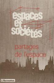 Partages de l'espace - Couverture - Format classique
