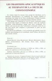Les Traditions Apocalyptiques Au Tournant De La Chute De Constantinople - 4ème de couverture - Format classique